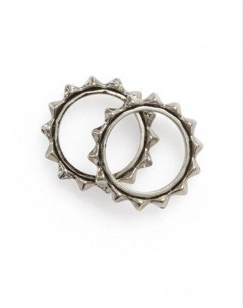 House of Harlow Thin Stacked Ring Palladium