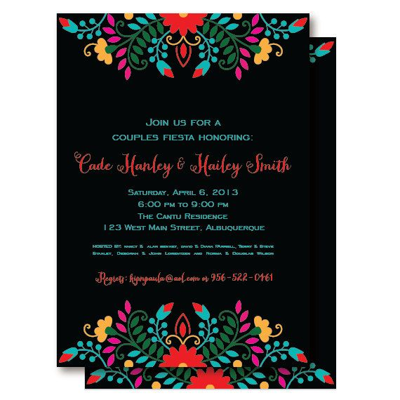 RESERVED FOR MARY - Fiesta Mexican Couples Shower / Rehearsal Dinner Invitation