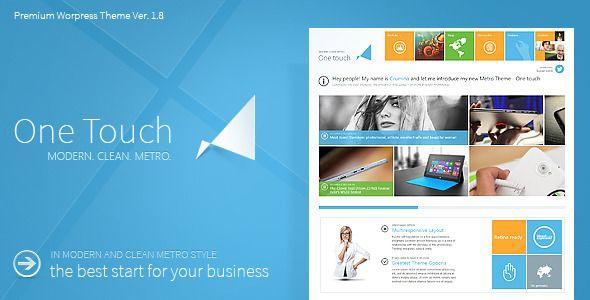 2014 Best Premium Wordpress Themes: One Touch Multifunctional Metro Stylish Theme