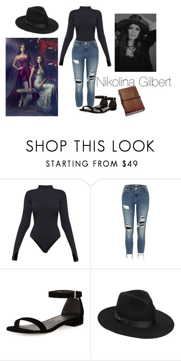 """""""Nikolina Gilbert"""" by haileujensen on Polyvore featuring Ivy Park, River Island, Stuart Weitzman and Lack of Color"""