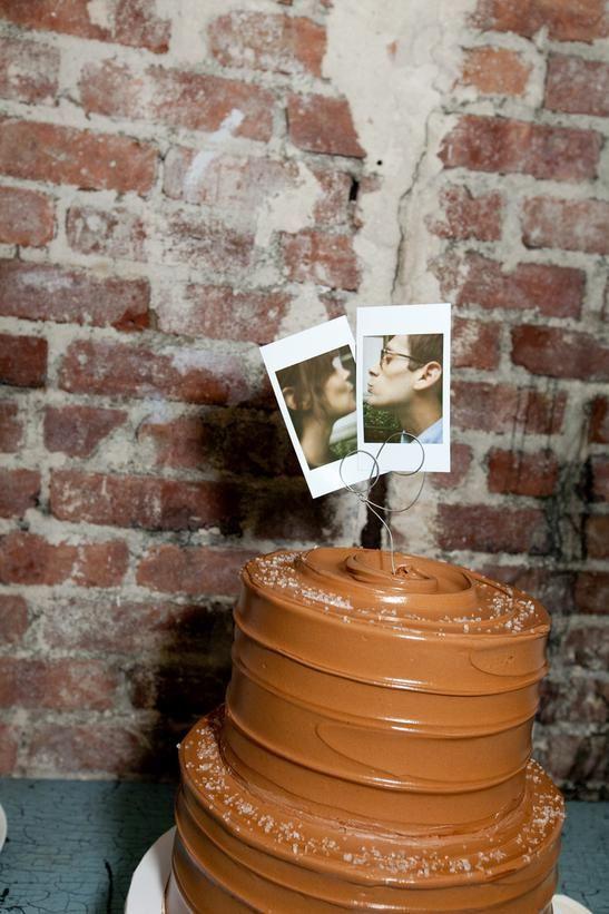 Topos de Bolo de Casamento: Fotografias Polaroid Simples, barato, fofo e personalizado!