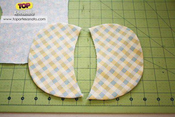 Como fazer elefante de tecido - Passo 1