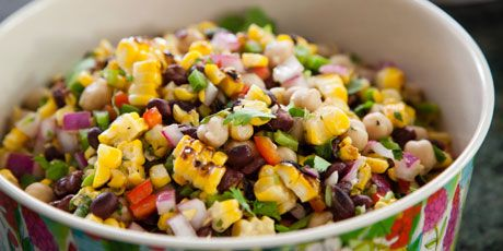 Grilled Corn and Bean Salad