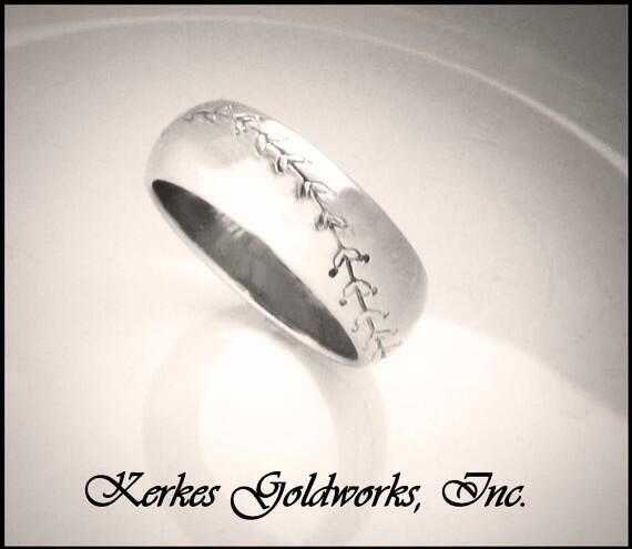.... Baseball wedding ring! (I wonder if there is a basketball)