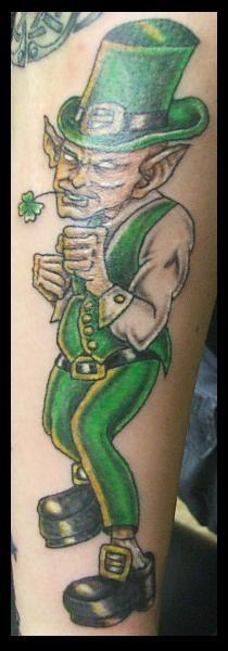 evil leprechaun tattoo by lilmoongodess.deviantart.com on @deviantART