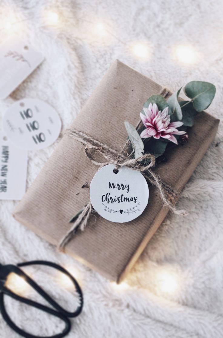 DIY Geschenke verpacken – Freebies Anhänger