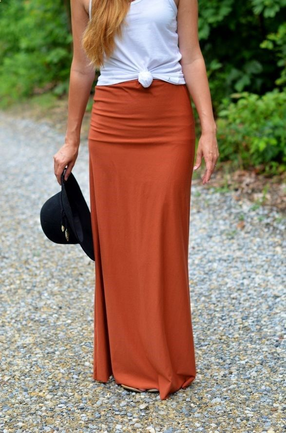 diy maxi skirt craft ideas