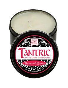 TANTRIC MASSAGE - Vela y aceite para masaje con aromaterapia  a granada. Excelente para una ocasión especial.