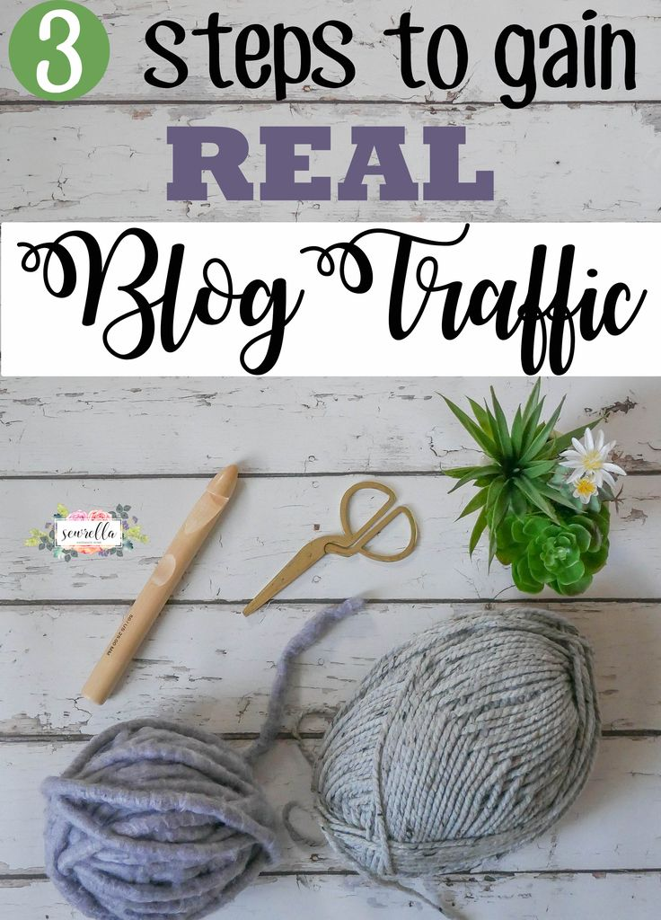 3 easy steps to gain REAL traffic on your blog! | How I went from $0 to $10k monthly from my blog| Free tutorial from Sewrella