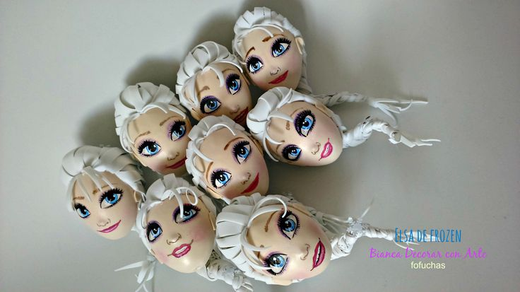 Fofucha Elsa  diseñe su  cara con pintura acrílica lo más parecidos posibles Espero te haya gustado estos DISEÑOS!!!