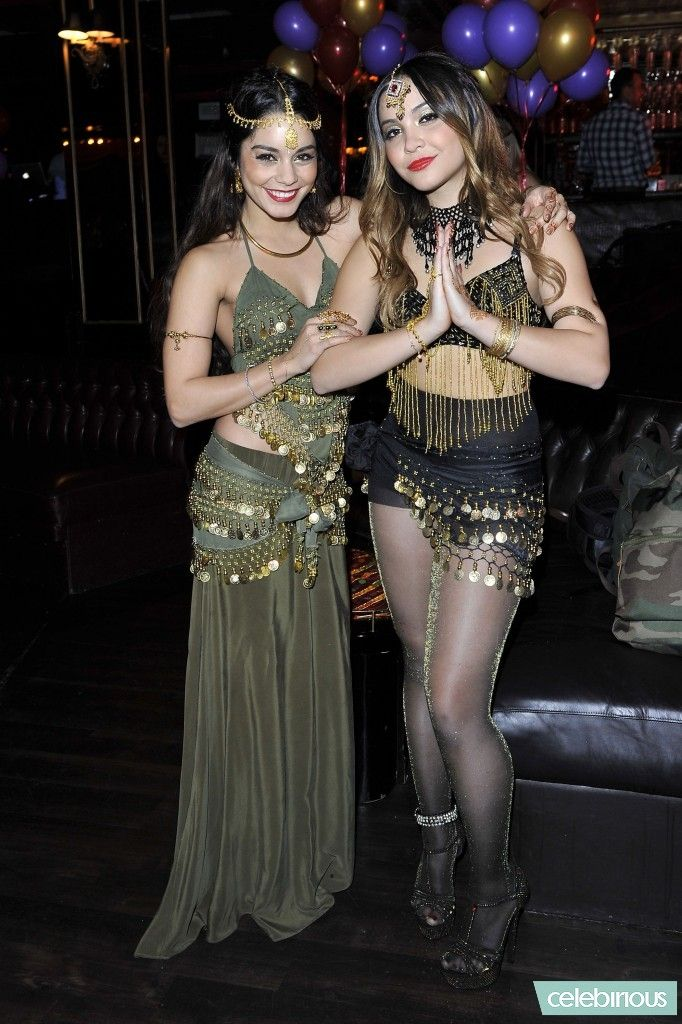 Vanessa and Stella Hudgens at Stella's birthday party #bollywood themed party