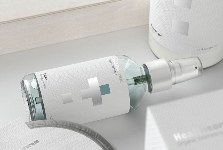 Clean packaging design by Soyuz ² for skincare brand, Healtheorem