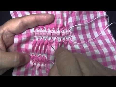 Tutorial N°7 Nido de abeja sin fruncir - YouTube