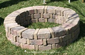 how we built our own fire pit for under 75, concrete masonry, how to, outdoor living, Third and final ring complete