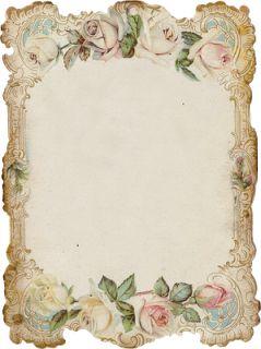Printable vintage roses
