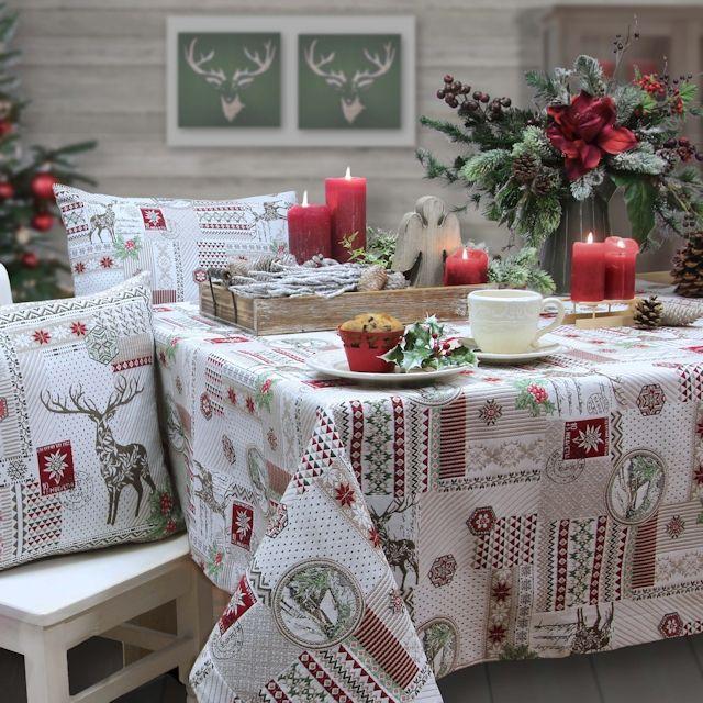Weihnachtstischdecke Landhus