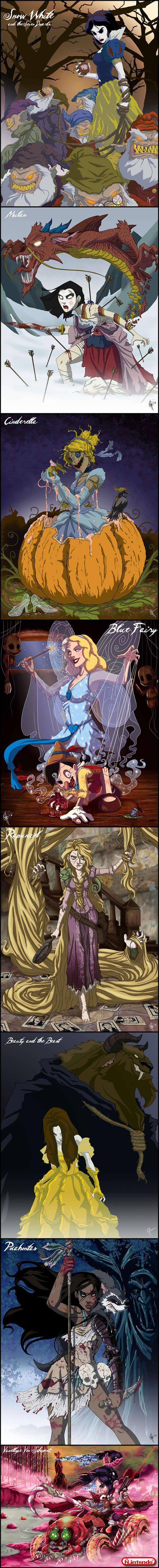 Princesas Da Disney Macabras - Não Intendo