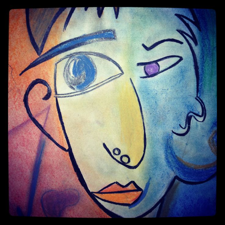 Picasso inspired art #instaprints