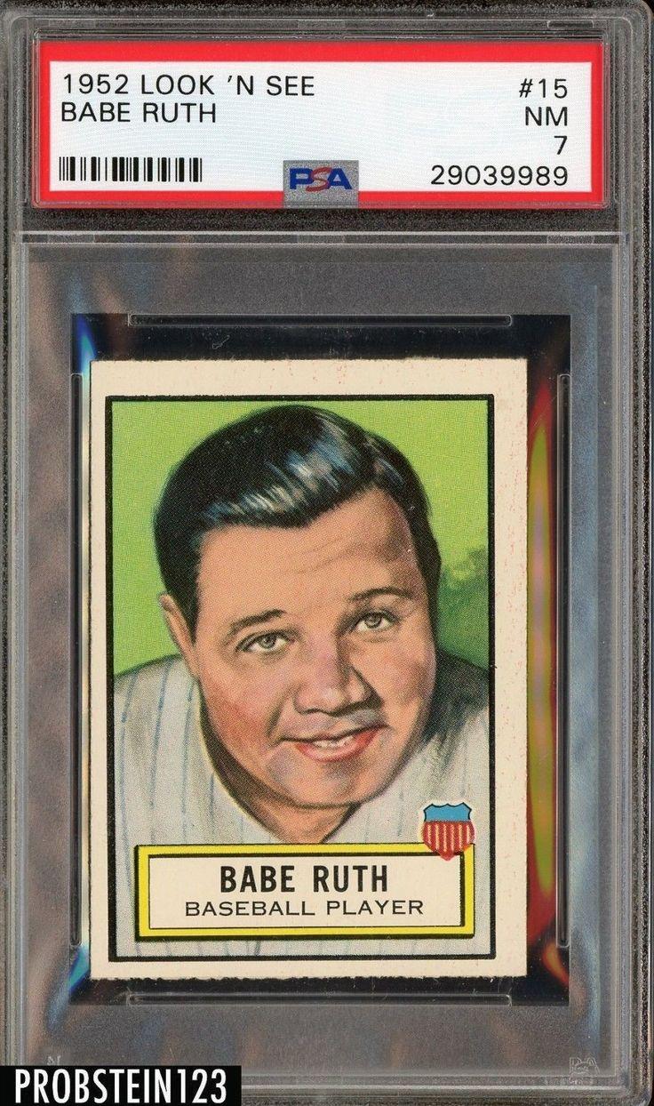 1952 topps look n see 15 babe ruth new york yankees hof