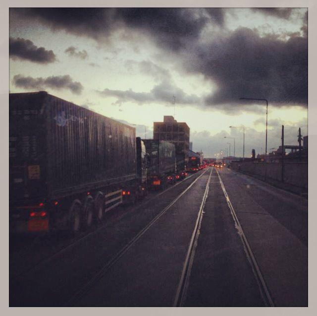 Busy at Dublin port