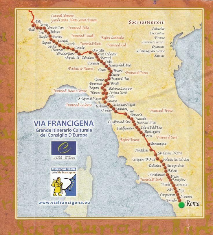 Via Francigena pilgrimage route to Rome