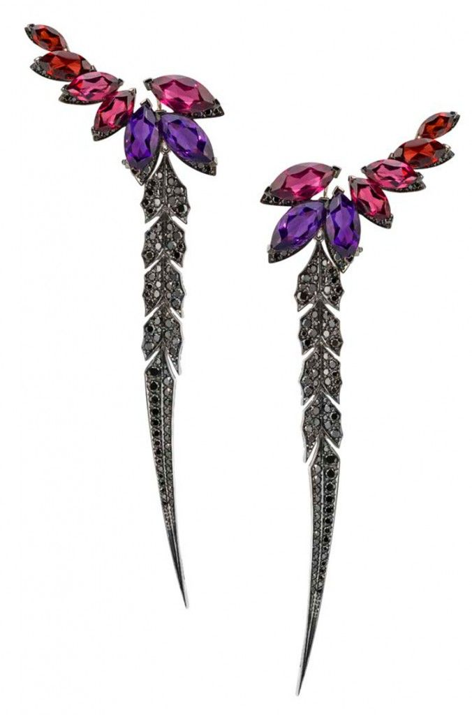 Magnipheasant Earrings by Stephen Webster