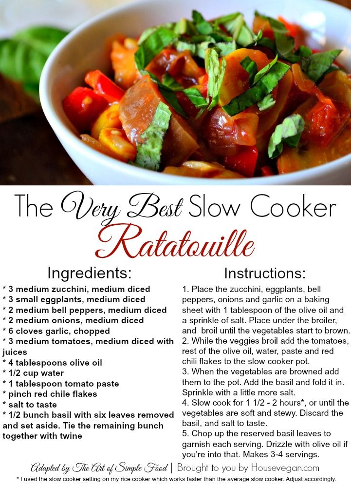 The best ever slow cooker ratatouille for Best dinner recipes ever