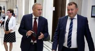 Grzegorz Schetyna i Stanisław Gawłowski - PAP / Tomasz Gzell