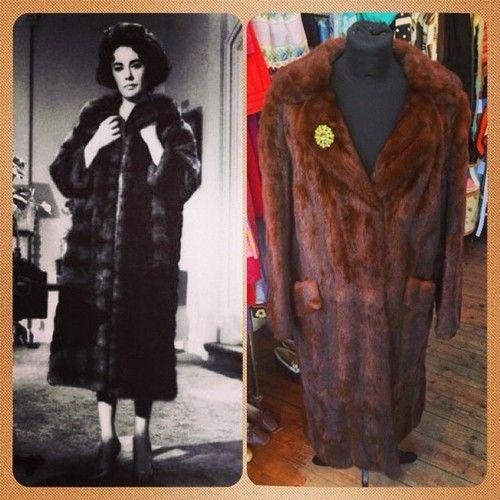 Stunning original 60's Liz Taylor style Mink fur coat with band at back - UK SIZE 12 - £350 #vintage #retro #vintage #fur #mink #classic #timeless #nostalgic #ElizabethTaylor #icon #status #real #60s #liztaylor #butterfield8 #oldhollywood #film #model #1960s #swingcoat #coat #vintageguruscotland #byresroad #glasgow #westend #scotland #scottish #fashion #trend #old #notnew