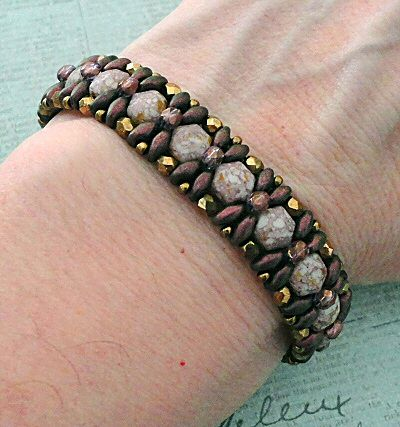 Linda's Crafty Inspirations: Pattern Review: Demoiselle Bracelet