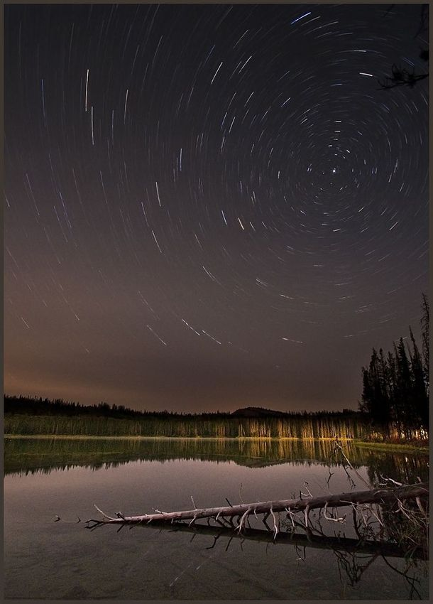 Star Tracks, Little Redfish Lake, Idaho, USA