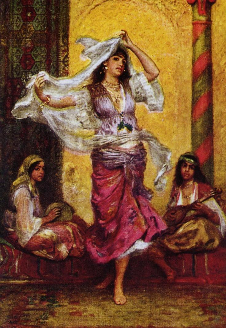Chengi dancer in a harem