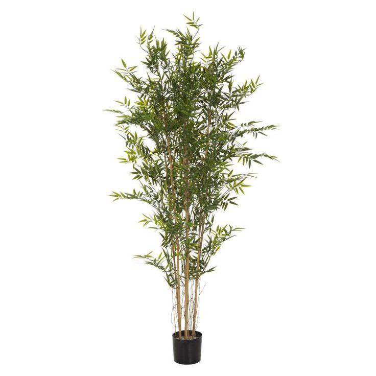 Plantas artificiales online. Planta artificial bambú. Tronco natural. Las hojas están fabricadas con pvc. Efecto natural. Maceta de plástico. Alto 186 cms