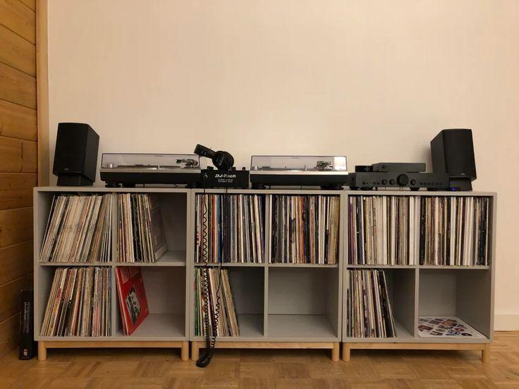 ikea eket for vinyl record storageconsole  vinyl in 2020