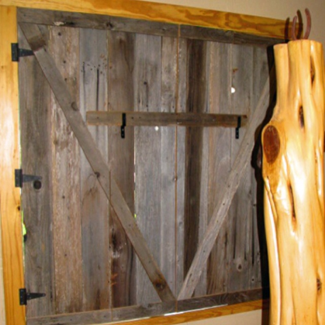 Love these wooden window shutters i could live there for How to make shutters from pallets