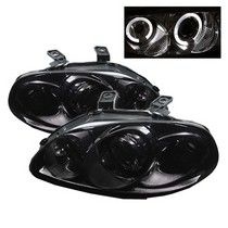 96-98 Honda Civic Spyder Halo Projector Headlights - Smoke