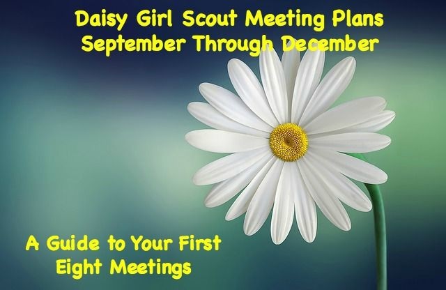 Daisy Girl Scout Meeting Plans from September to December-Your first eight Daisy Girl Scout meetings are planned for you with everything you need to have a successful start for your troop.