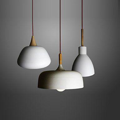 Ling@ Nordic einfachen japanischen Stil Lampen Schlafzimmer Wohnzimmer -Bar-Restaurant Café kreative einzigen Kopf hängen Eiche , 60w: Amazon.de: Beleuchtung
