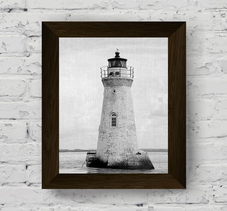 lighthouse print, coastal wall art, black and white photo, nautical poster, beach artwork, ocean wall art prints, instant digital download di AlemiPrints su Etsy