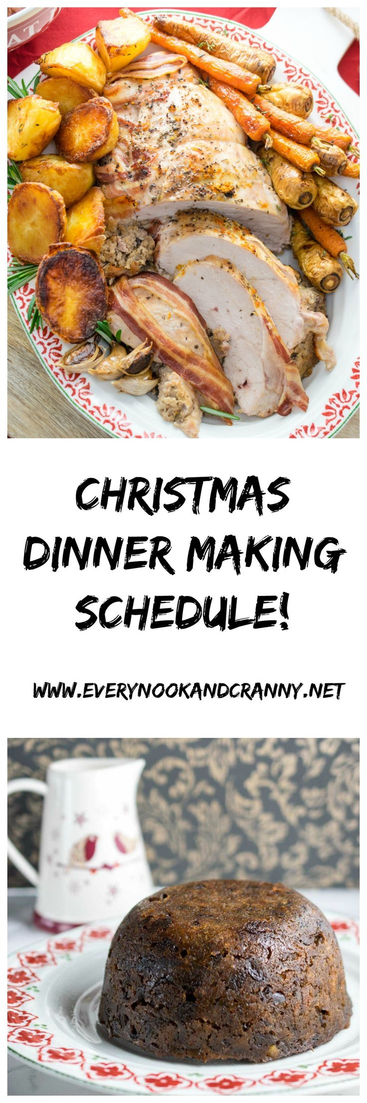 As the final part in my Christmas Dinner Making series, I thought I'd run you through how to get everything on the table at the same time with the least possible stress possible. The principles apply if you are feeding just you and your loved one or a crowd - the only difference is how