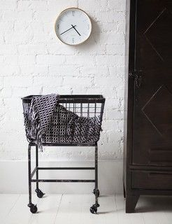 Downtown Basket on Wheels - modern - hampers - by Rose & Grey