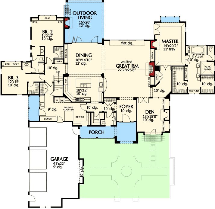 747 best images about h house plans on pinterest house for Energy efficient craftsman house plans