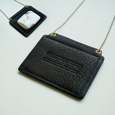 Genuin Leather ID Card Holder / Transportation Card Holder / Handmade