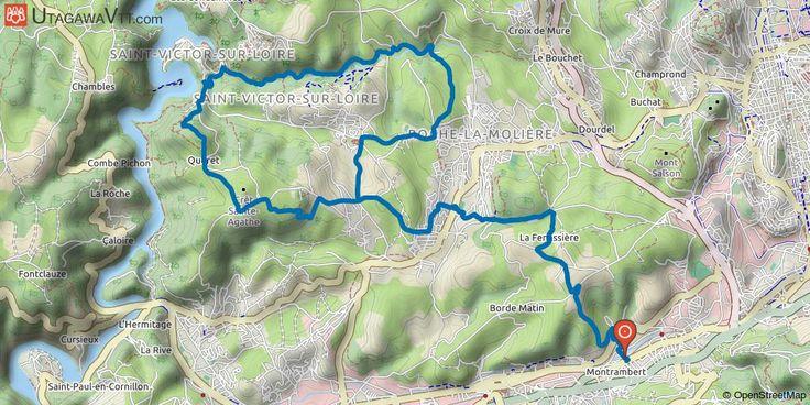 [Loire] La Ricamarie - Saint-Victor-sur-Loire Au départ de La Ricamarie, on rejoint Roche-la-Molière par de petits chemins pour le départ de la boucle à proprement parler.  Une bonne montée assez raide encombrée de racines en montant sur la tour Philippe, c'est la grosse difficulté du parcours. Un peu de route avant d'attaquer une descente sur Saint-Victor-sur-Loire, puis la vallée du Lizeron en suivant le ruisseau pour revenir au début de la boucle et rentrer à la voiture.