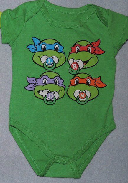 TMNT TEENAGE MUTANT NINJA TURTLES INFANT BABY BODYSUIT ONESIE 0/3 MONTHS