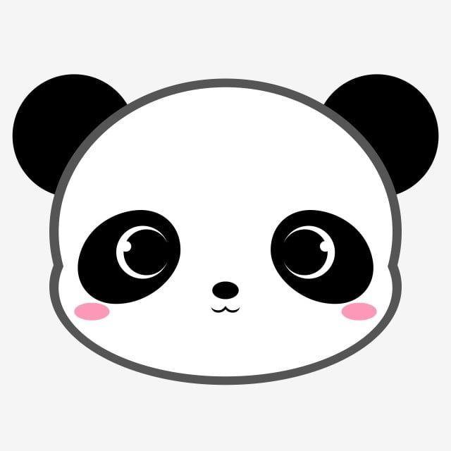 Download This Cartoon Panda Bear Head Head Animal Wild Png Clipart Image With Transparent Background Or Psd F Cartoon Panda Panda Drawing Cute Bunny Cartoon