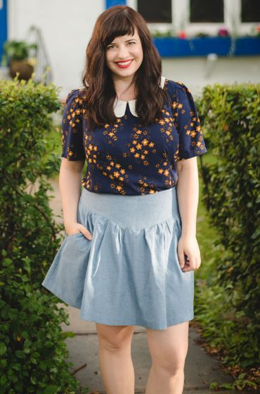 Elise's Orla top - sewing pattern by Tilly and the Buttons
