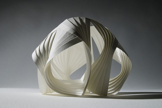 Richard Sweeney | Untitled (Seed) | pleated paper sculpture