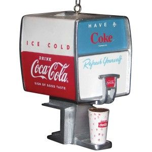 Coca Cola Dispenser Christmas Ornament – Diner Counter Coke Nostalgia