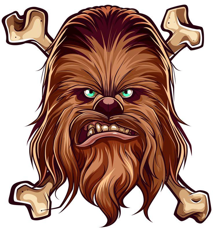 GGWWWARGHH Chewbacca Illustration by Juan Villamil